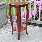 VINTAGE BOMBAY CHERRY WOOD PEDESTAL STAND DISPLAY TABLE