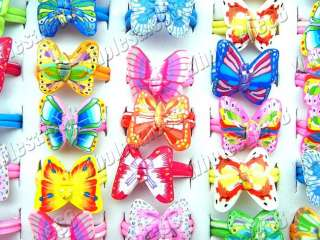 lots 100pcs mixed butterfly animal FIMO charm Fashion rings NEW