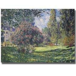 Claude Monet The Parc Monceau Canvas Art