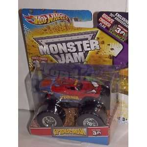 2012 HOT WHEELS SPIDERMAN MONSTER JAM TRUCK 1:64 GRAVE DIGGER 30TH