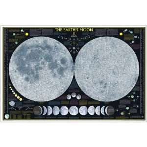 National Geographic The Earths Moon Map, Laminated