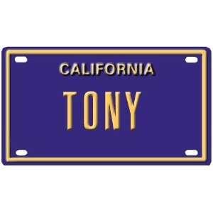 Tony Mini Personalized California License Plate