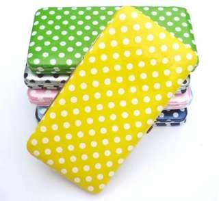 Chic Polka Dots spot pattern Flat Clutch Wallet Purse Handbag Satchel