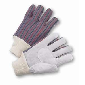 Ladies Gloves with Split Cowhide Leather Palm Patch (lot