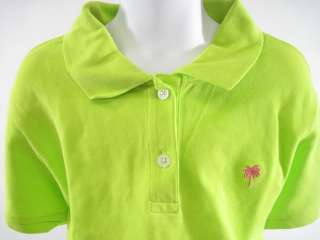 LILLY PULITZER Girls Neon Green Polo Shirt Top Size M