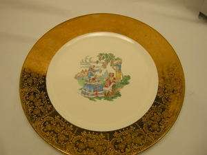 Vintage Royal China Warranted 22 KT Gold Plate