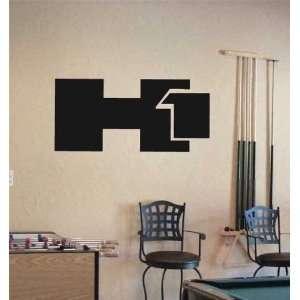 GARAGE WALL HUMMER H1 EMBLEM LOGO DECAL STICKER ART 06