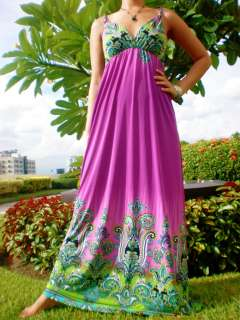 New Adorable Woman Ladies Beachwear Long Maxi Dress