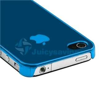Blue +Black Hard Slim Zebra Skin Case For iPhone 4 4S 4G S Sprint