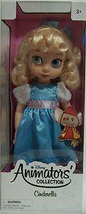 Designer Princess Cinderella Animators Collection Doll   NEW   |