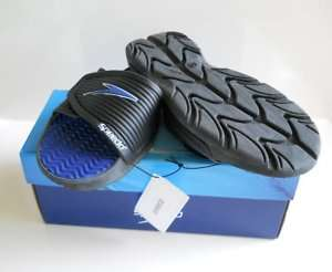 NWT Mens Speedo Pool Side Flops Sandals Slide Blue 8US
