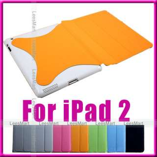 Magnetic Smart Cover with Hard Case for apple iPad 2 16gb 32gb wifi 3g