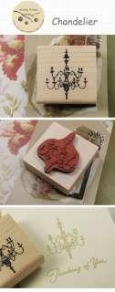Decorative Stamps Vintage Chandelier Rubber Stamp