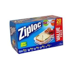 Ziploc 20 Count Value Pack Containers With Lids Case Pack