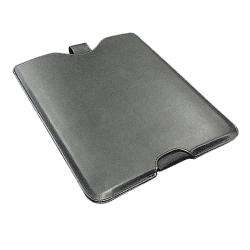 SKQUE Black Leather iPad Sleeve Case