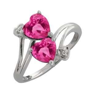 1.81 Ct Genuine Heart Shape Pink Mystic Topaz Gemstone