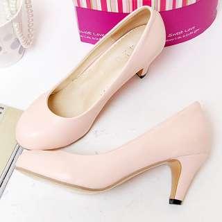 2012 New Spring Korea Round Toe Womens Shoes Cuban Heels Princess