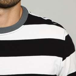 Kenneth Cole Mens Black Stripe Shirt