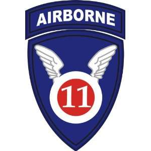 US Army 11th Airborne Division Patch Decal Sticker 3.8