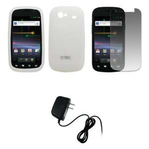 EMPIRE Clear Silicone Skin Case Cover + Screen Protector + Home Wall