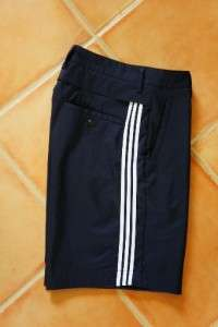 Mens Adidas Climacool casual athletic golf shorts navy blue vented sz