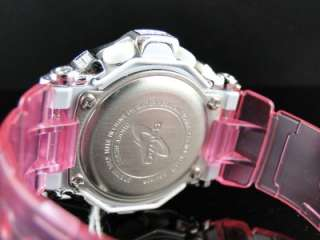 BRAND NEW G SHOCK PINK BABY G LADIES WOMENS WHITE SIMULATED DIAMOND