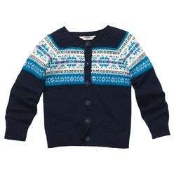 Big Girls Navy Blue & Aqua Cardigan/Sweater   Originally $44.00