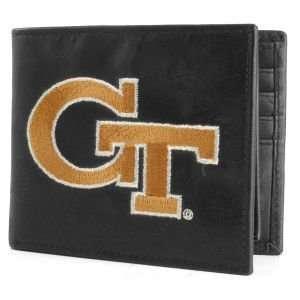 Georgia Tech Yellow Jackets Black Bifold Wallet Sports
