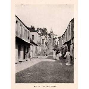 1925 Print Street Scene Grenada Costume St Patrick Church Caribbean