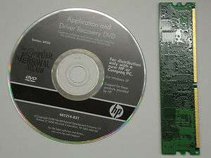 HP 6930 Application and Driver Recovery DVD for Windows XP Restore Kit