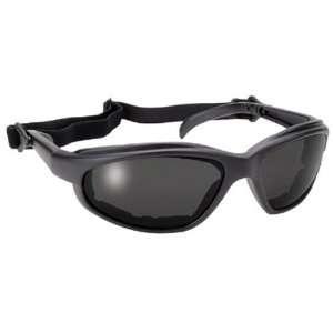 Freedom Black Padded Frame Sports Motorcycle Sunglasses