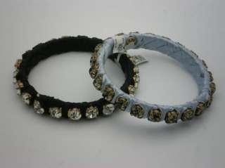 Crew Silk wrapped crystal bangle bracelet set of 2