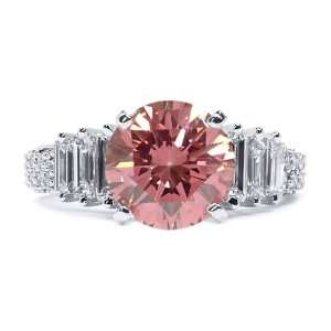2.00 Ct Intense Pink Round Diamond Engagement Ring Jewelry