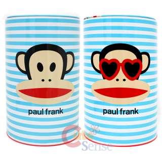Paul Frank Julius Tin Trash Can Set w/Top  4pc Blue Set