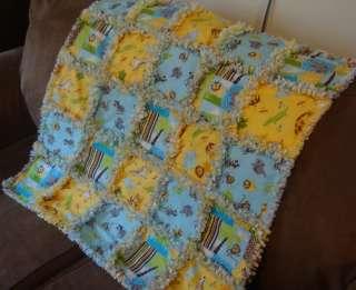 Baby Boy Girl Handmade Custom Made Rag Quilt Blanket