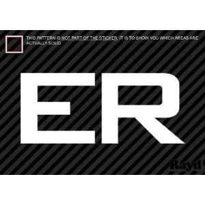 (2x) ER   Sticker   Decal   Die Cut   Medical Hospital