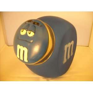 M&Ms Blue Glass Cookie Jar Everything Else