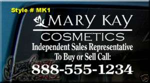 MARY KAY COSMETICS DECAL STICKER CAR WINDOW SIGN INDEPENDENT SALES REP