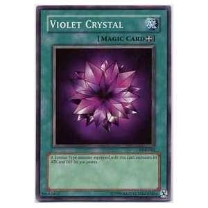 YuGiOh Legend of Blue Eyes White Dragon Violet Crystal LOB 042 Common