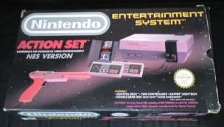 Nintendo NES Boxed Console Action Set W/ Mario + Boxed Games