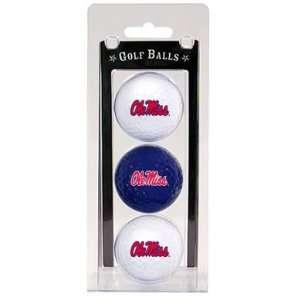 Rebels   Ole Miss Team Logo Three Golf Ball Pack   Golf Sports