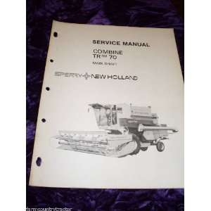 New Holland TR70 Combine Main Shaft OEM Service Manual: New Holland