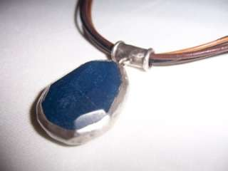 Silpada Sterling Silver Blue Jade Pendant Necklace N1783 Retired Gift