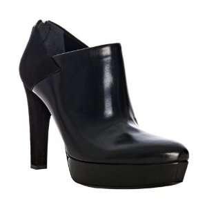 Gucci black leather Karen suede detail platform booties