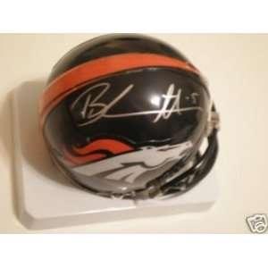 Brandon Marshall Autographed/Hand Signed Mini Helmet Broncos