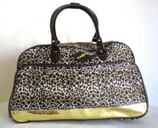20Duffel/Tote Bag Rolling Luggage/Wheel Purse Leopard