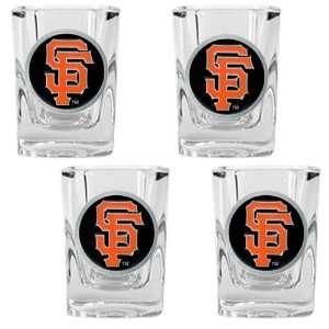 San Francisco Giants Mlb 4Pc Square Shot Glass Set Sports