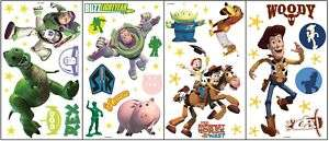 NEW NIP TOY STORY Room Appliques Wall Decor 55 Stickers