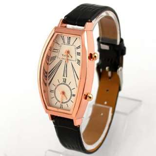 1pcs new Elegant Black Lady Girl Women Dual Wrist Watch,A20 BK