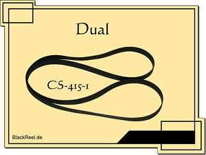 Dual CS 415 1 Riemen Plattenspieler Record Player